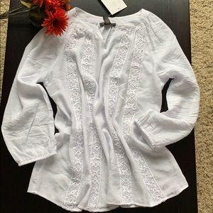 Peasant blouse with lace detail SZ M